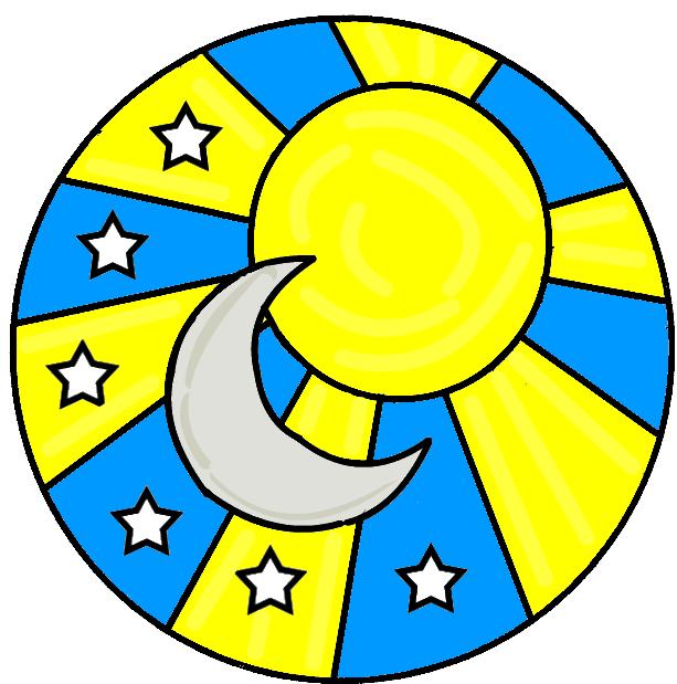 Sun And Moon Clip Art - ClipArt Best (613 x 619 Pixel)