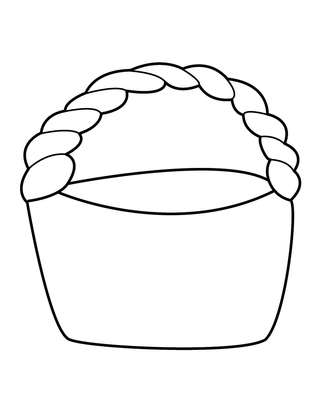 Empty Easter Basket Clipart