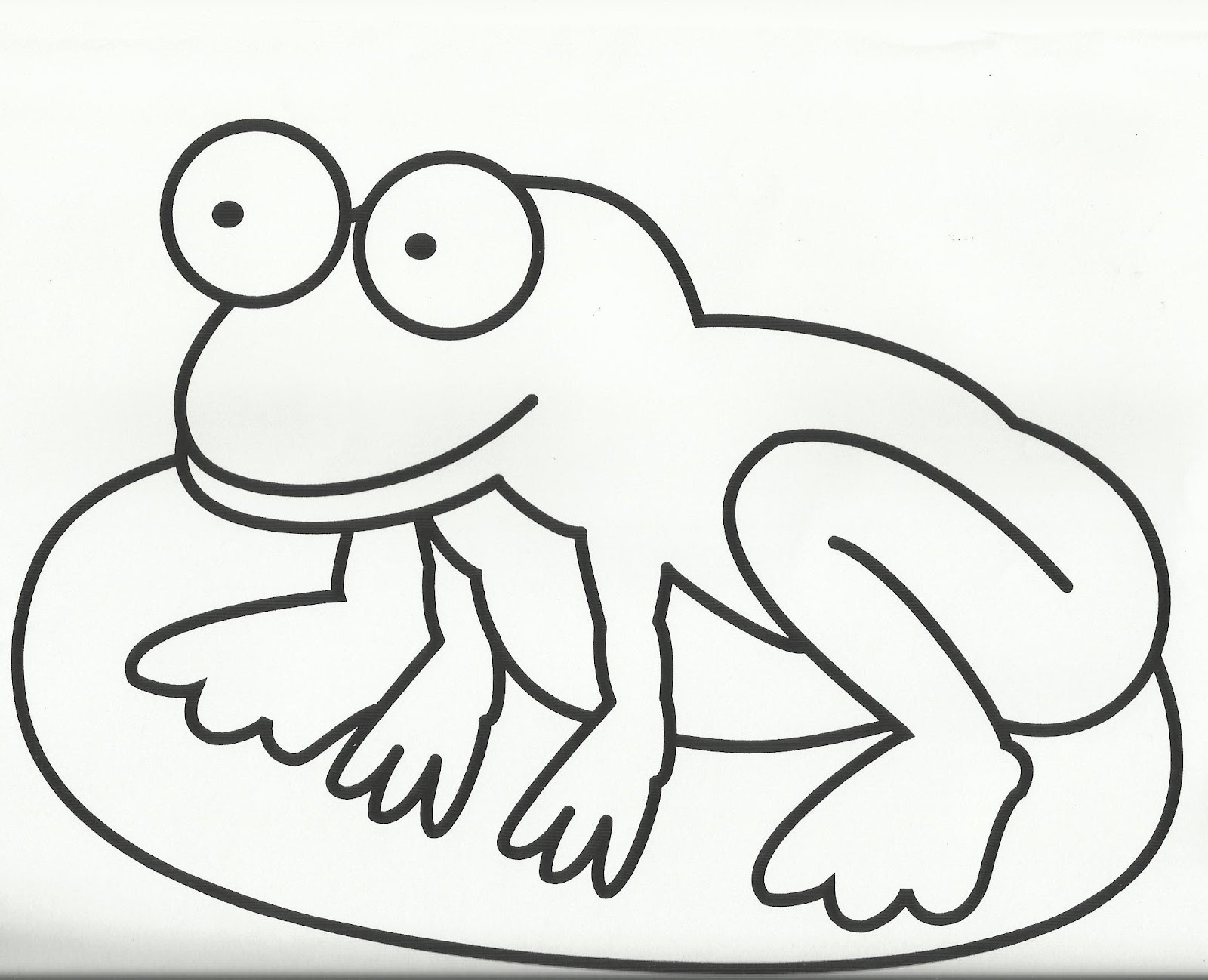 cute frog coloring page clipart best