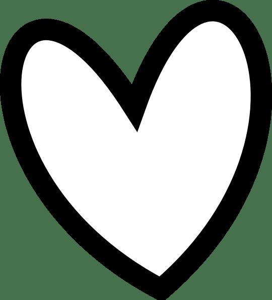 Heart Clipart Black And White Free Clip Art Border Setiap ... (540 x 596 Pixel)