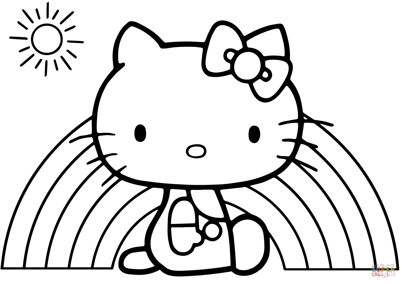 Little Kitty Pages Coloring Pages