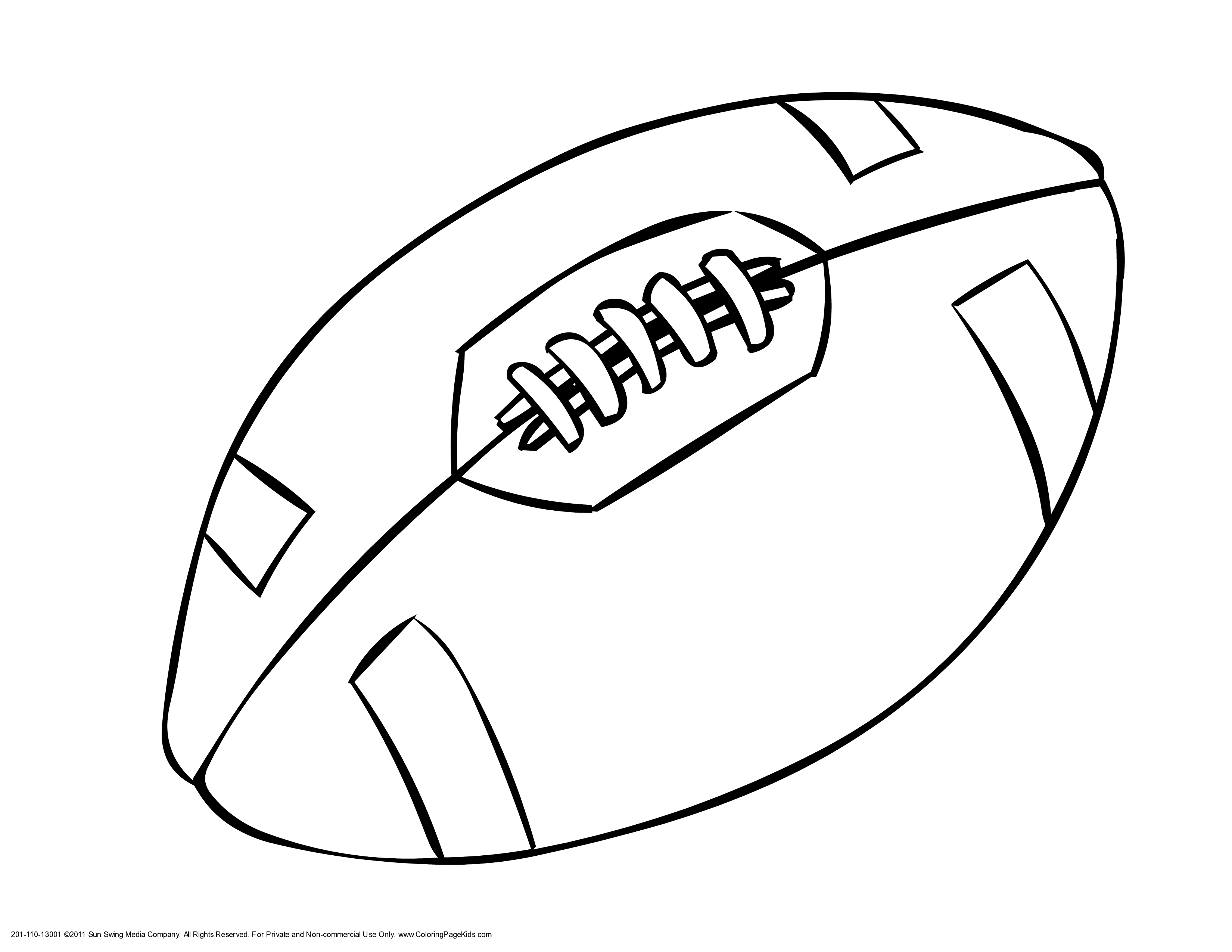 Football Ball Coloring Pages