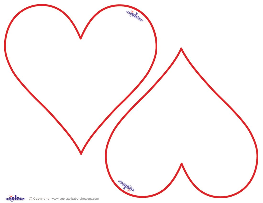 Heart Shape Cut Out Worksheet