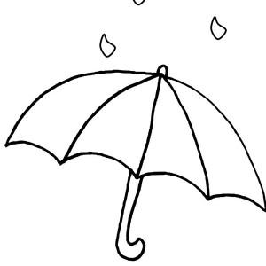 april showers in raindrop coloring page color luna clipart