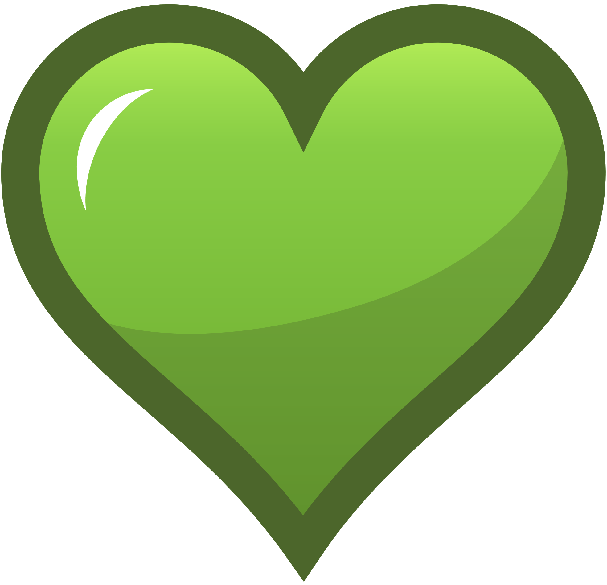 Green Heart Clipart