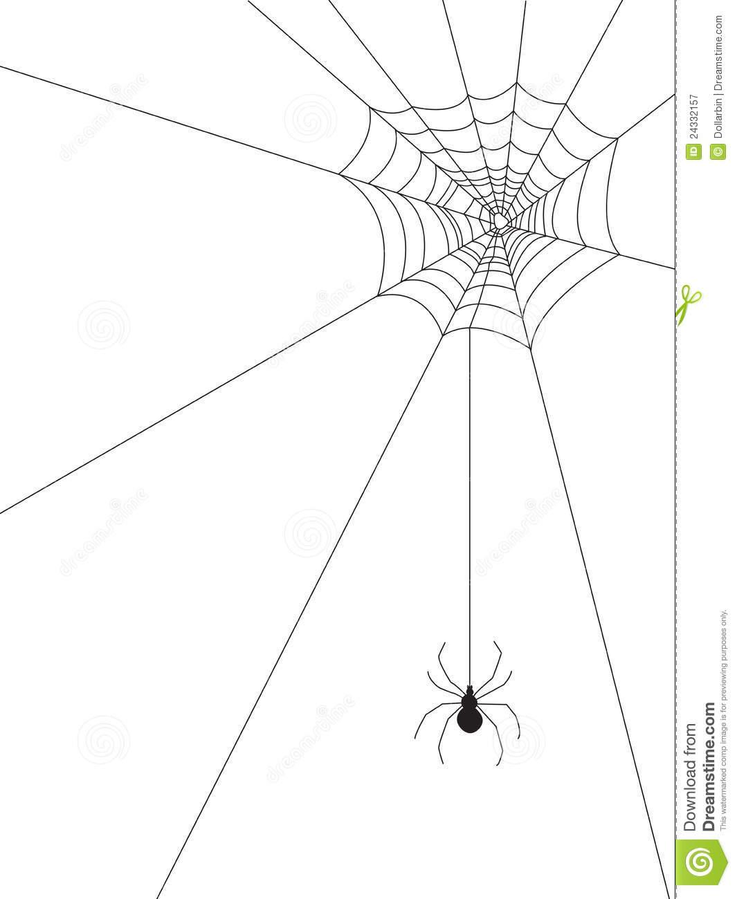 Corner Spiderweb Vector