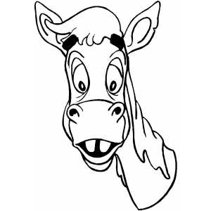 coloring pages of horses head clipart best