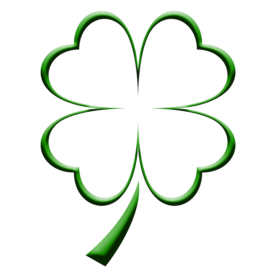 four leaf clover coloring page clipart best