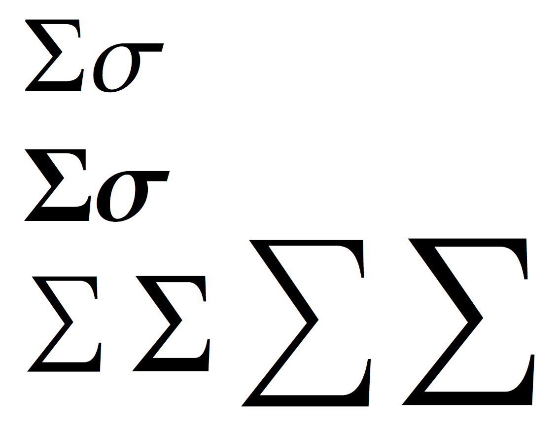 Greek Symbol For Sum