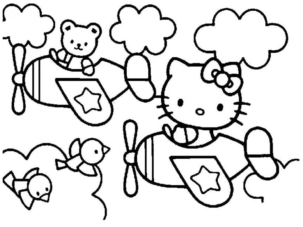 Hello Kitty Pictures Black And White
