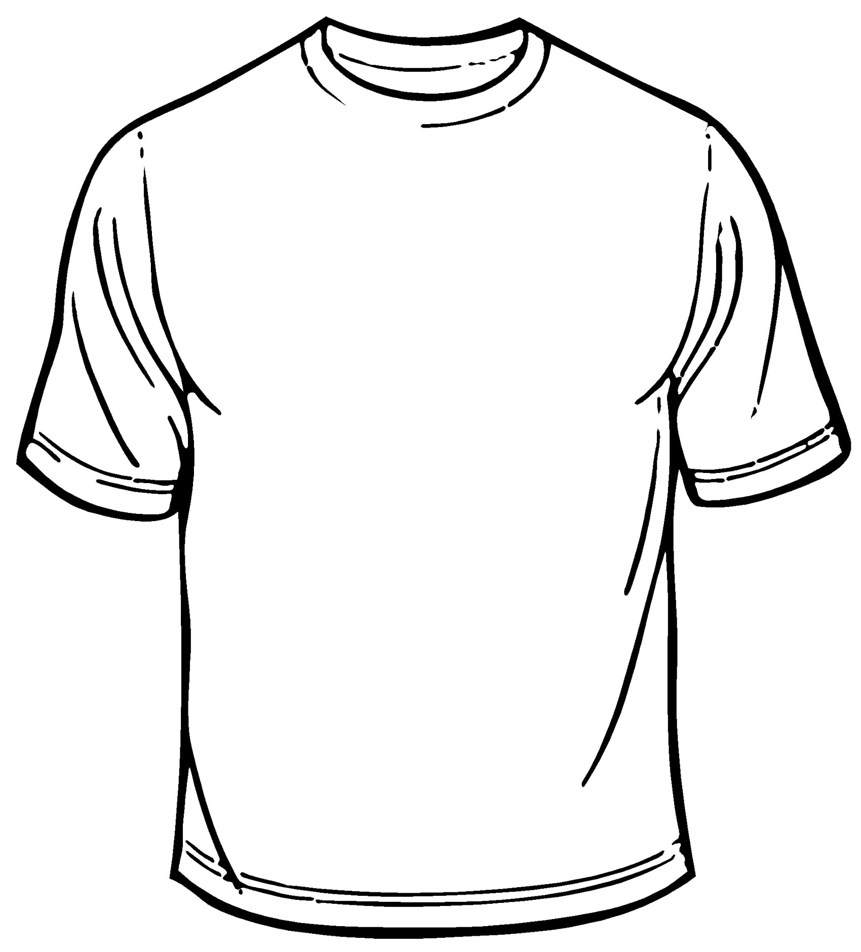 T Shirt Outline Printable
