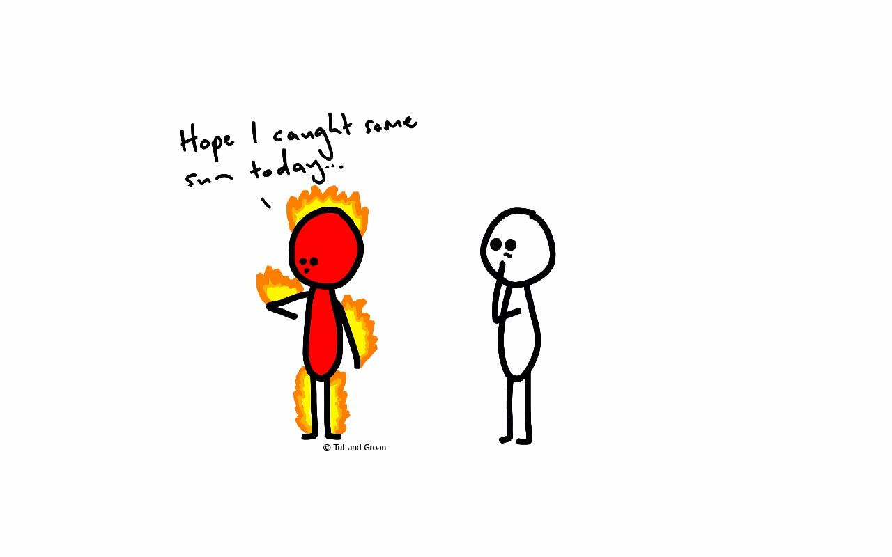 Cartoon Sunburn