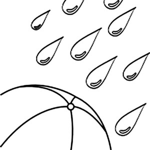 raindrops coloring pages free printable paper craft patterns and