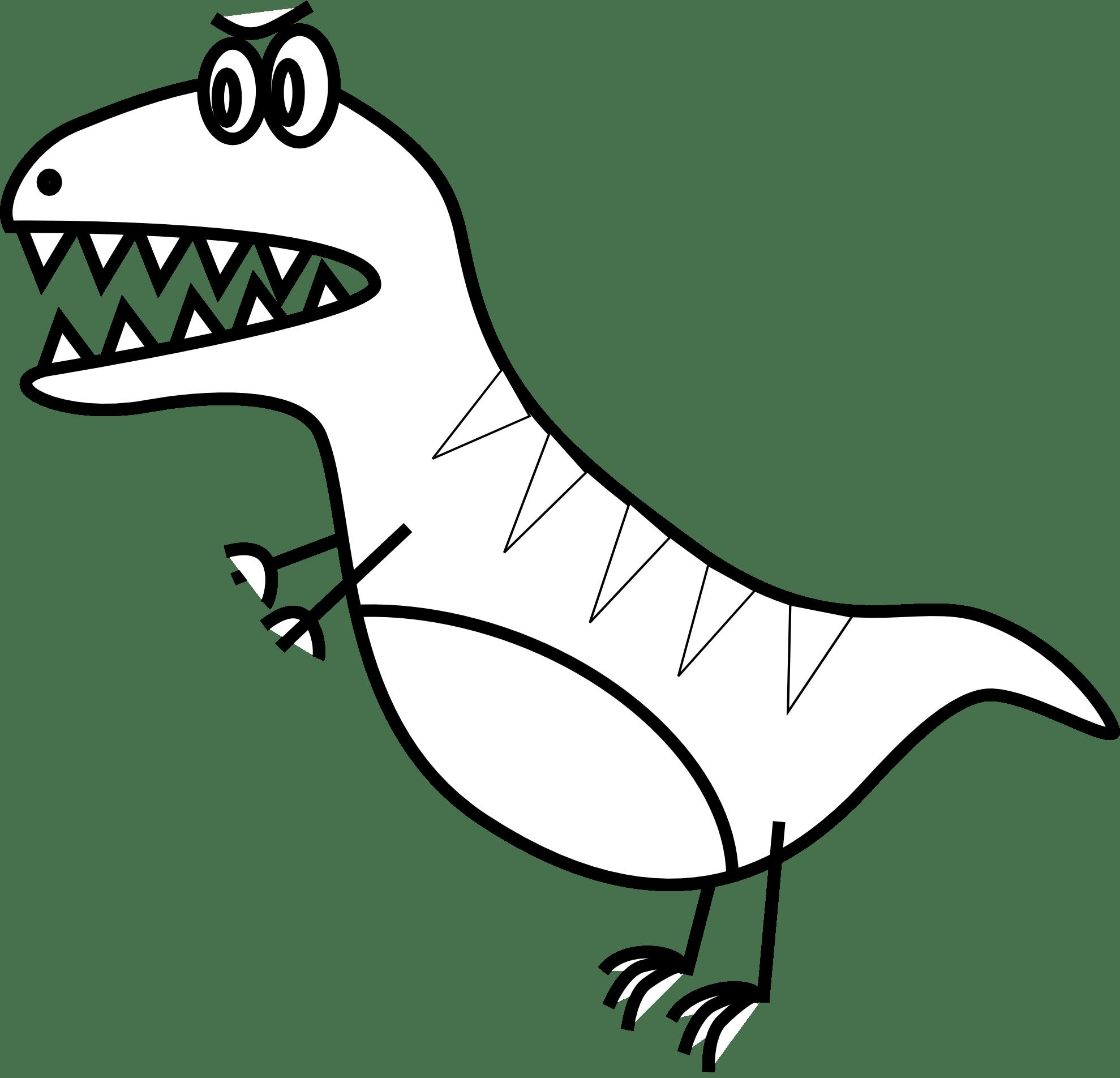 Clip Art Jazzynico Dino Simple T Rex Black
