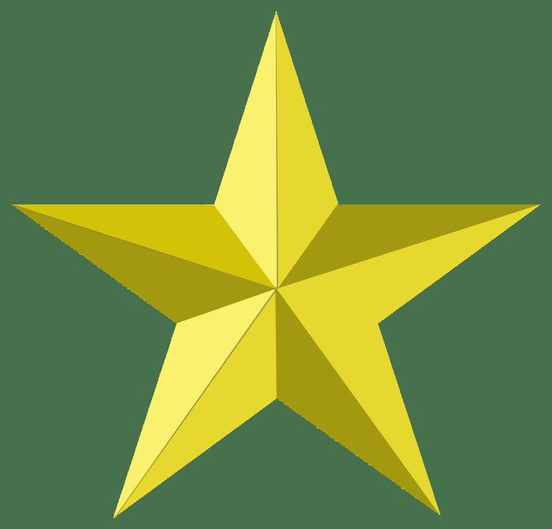5 Stars Clipart Transparent Background