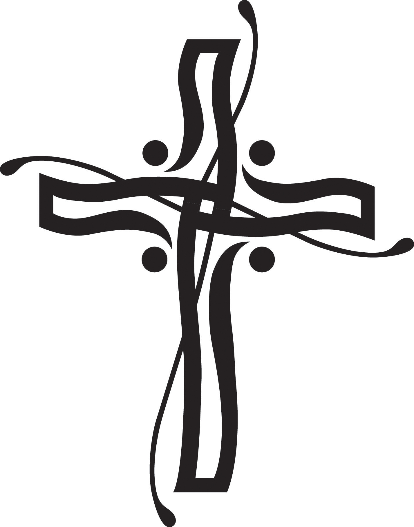 Christian Clip Art Black And White