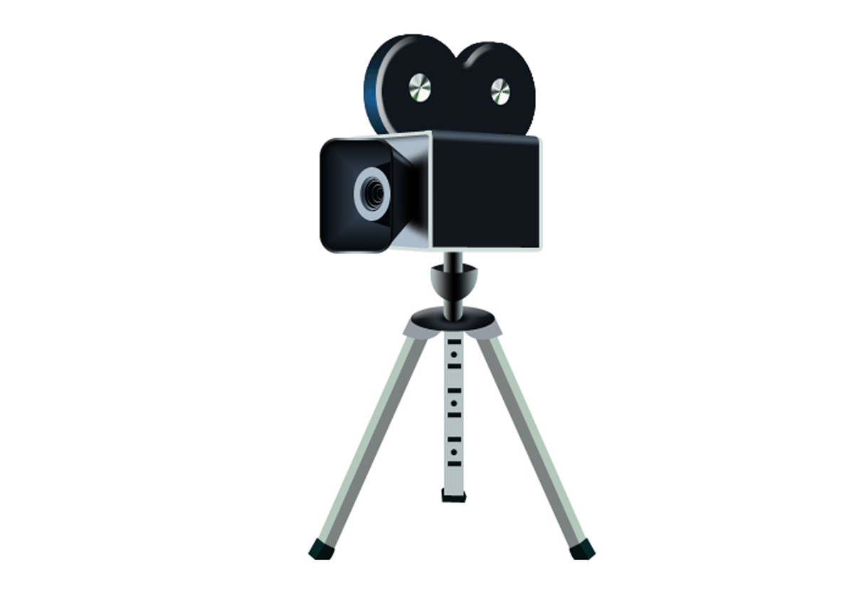 Design a movie camera icon in Photoshop - ClipArt Best ... (1200 x 857 Pixel)