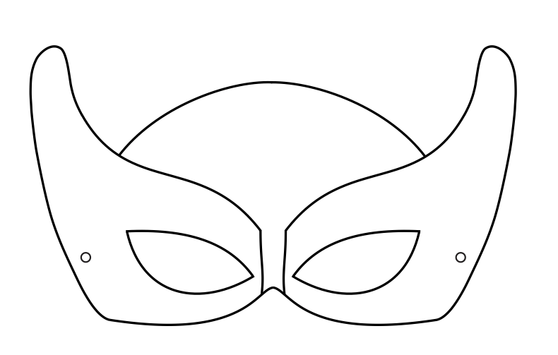 mask template batman inspired. superhero mask printable. printable ...
