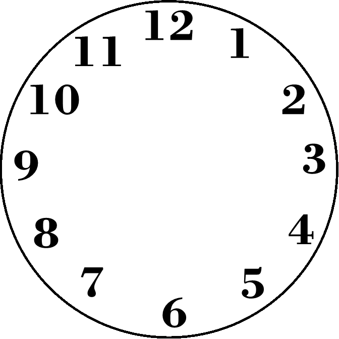 printable blank clock face clipart best