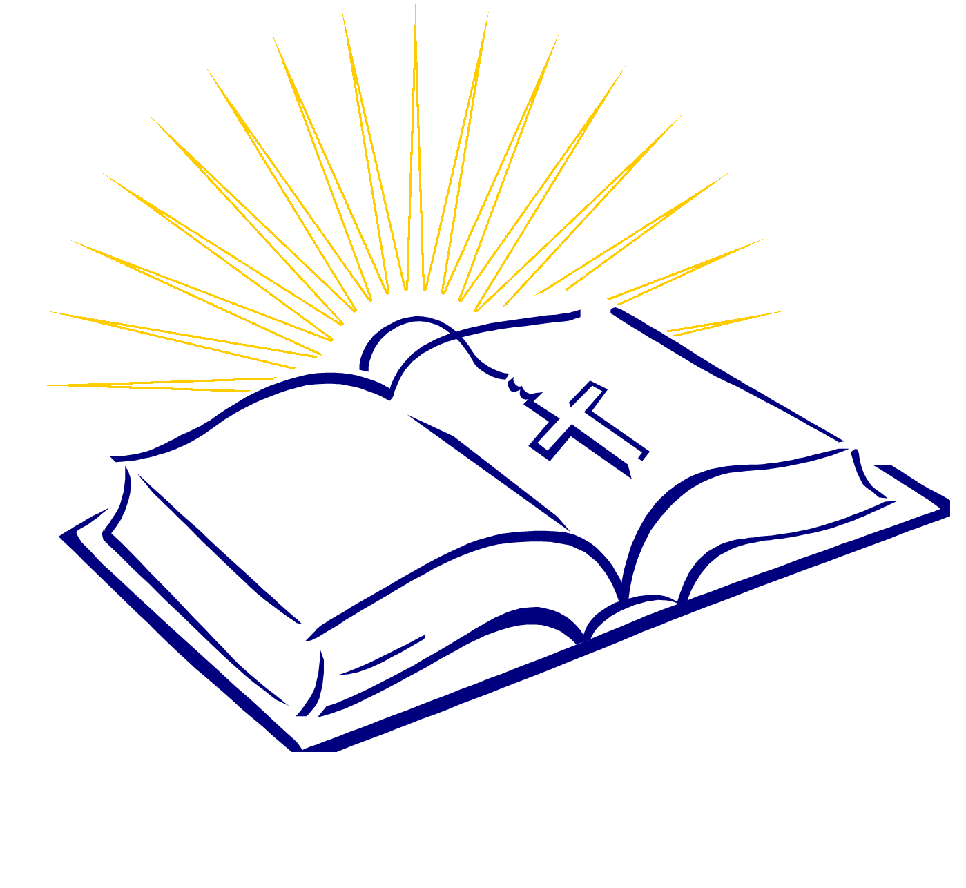 Bible With Cross Clipart