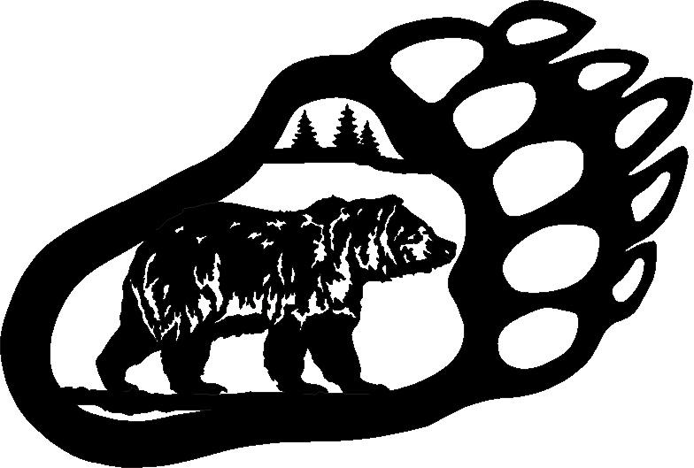 Bear Paw Drawing - ClipArt Best (784 x 529 Pixel)