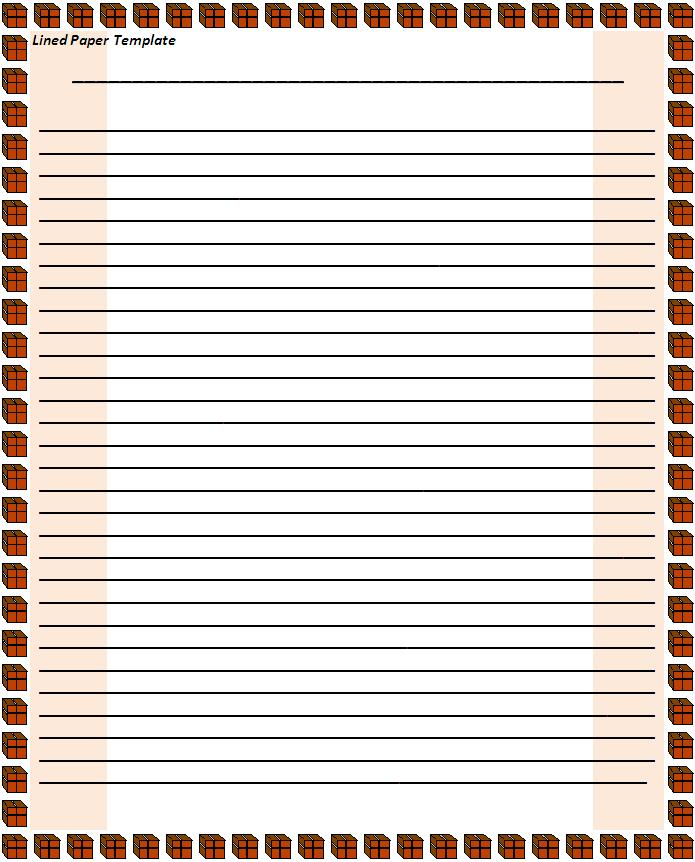 Doc8131024 Printable Writing Paper with Border printable – Printable Writing Paper with Lines