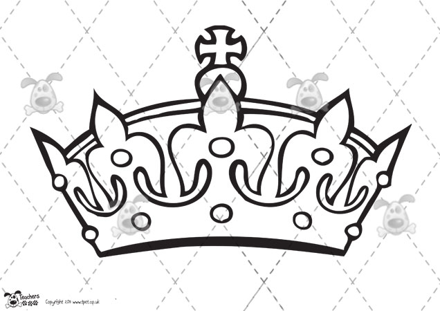 Queen Crown Coloring Page Coloring Crown With Jewels Picture Go