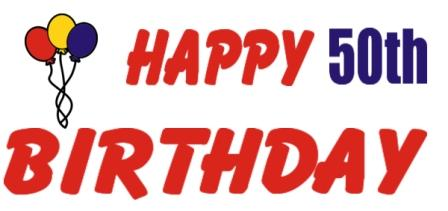 Happy 50th Birthday Clip Art - ClipArt Best (448 x 211 Pixel)