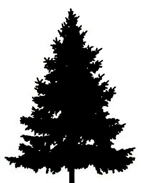 christmas-tree silhouette clip art - Seivo ... - ClipArt ... (472 x 612 Pixel)