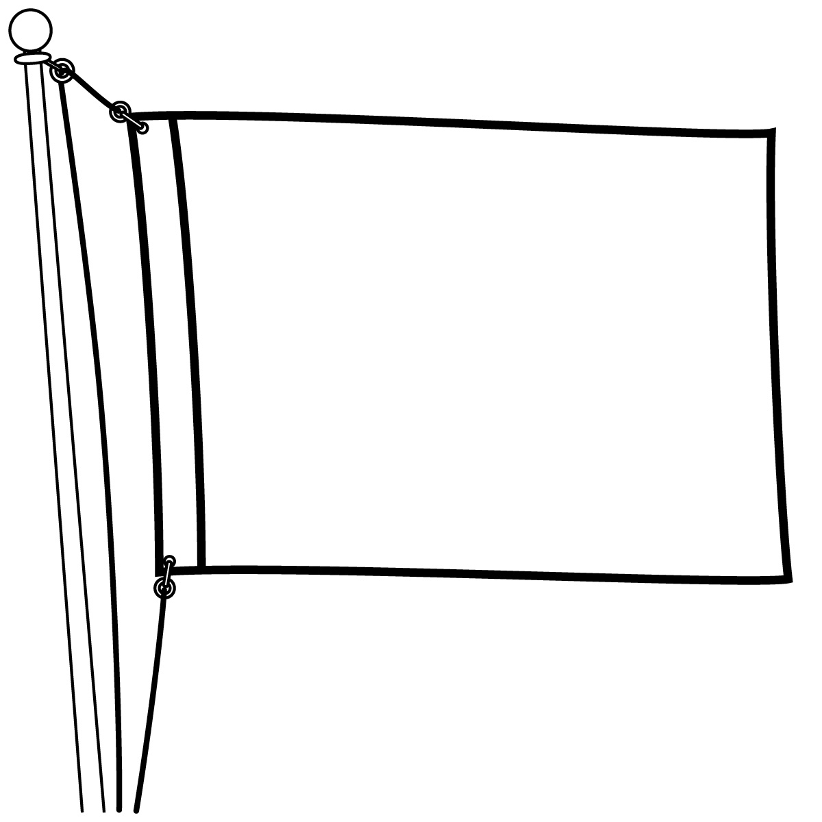 Outline Images Of Flag