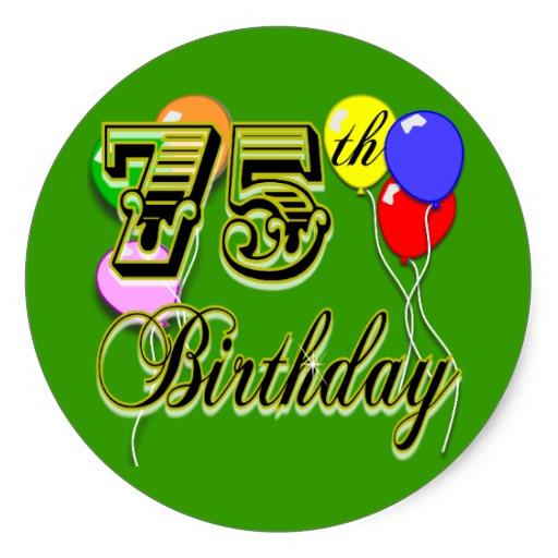 75th Birthday Clip Art - ClipArt Best (512 x 512 Pixel)