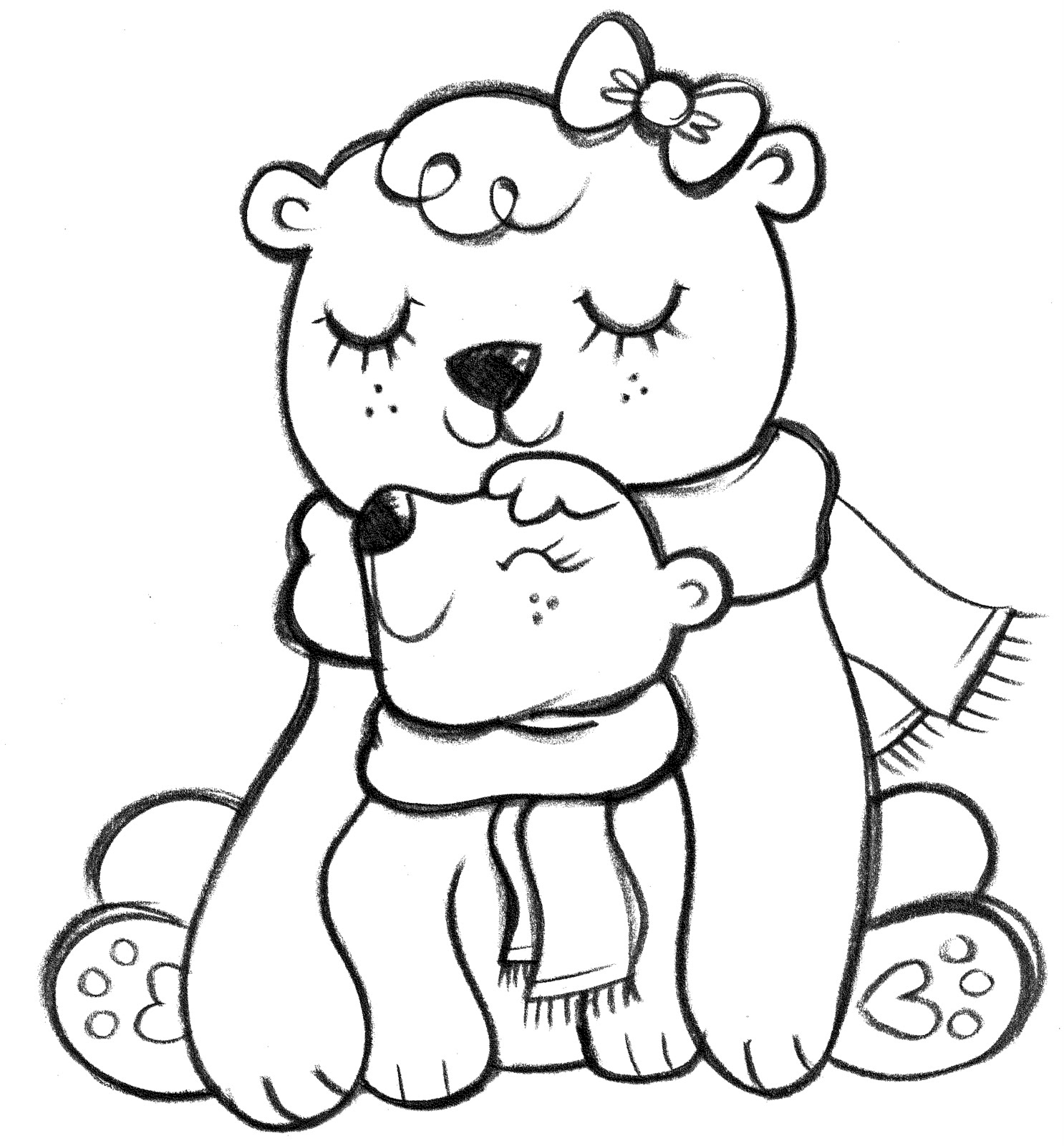 Polar Bear Line Drawing
