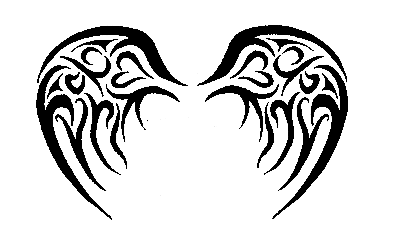 Simple Tribal Angel Wings