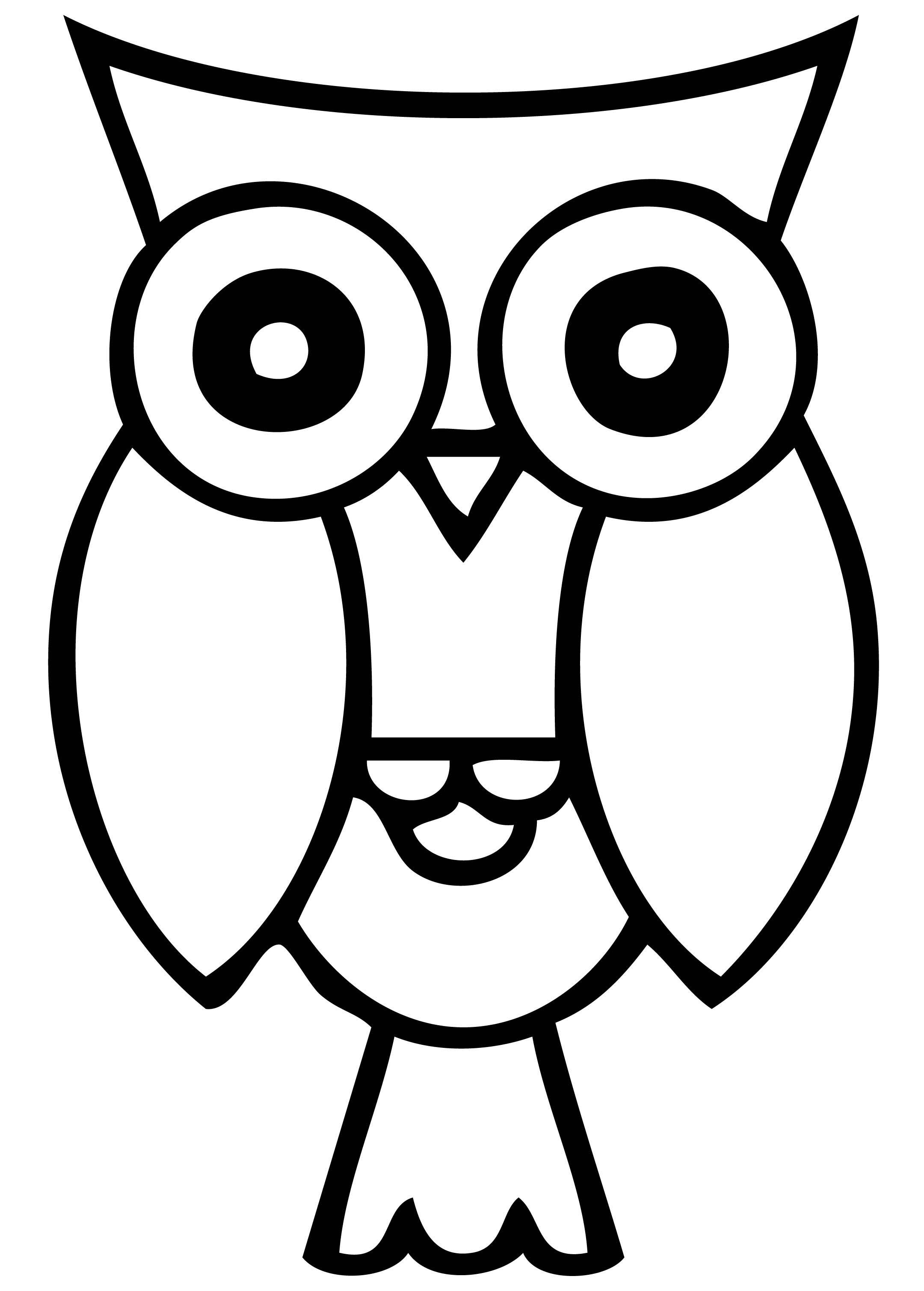 Owl Clip Art Black And White - ClipArt Best (2160 x 3016 Pixel)