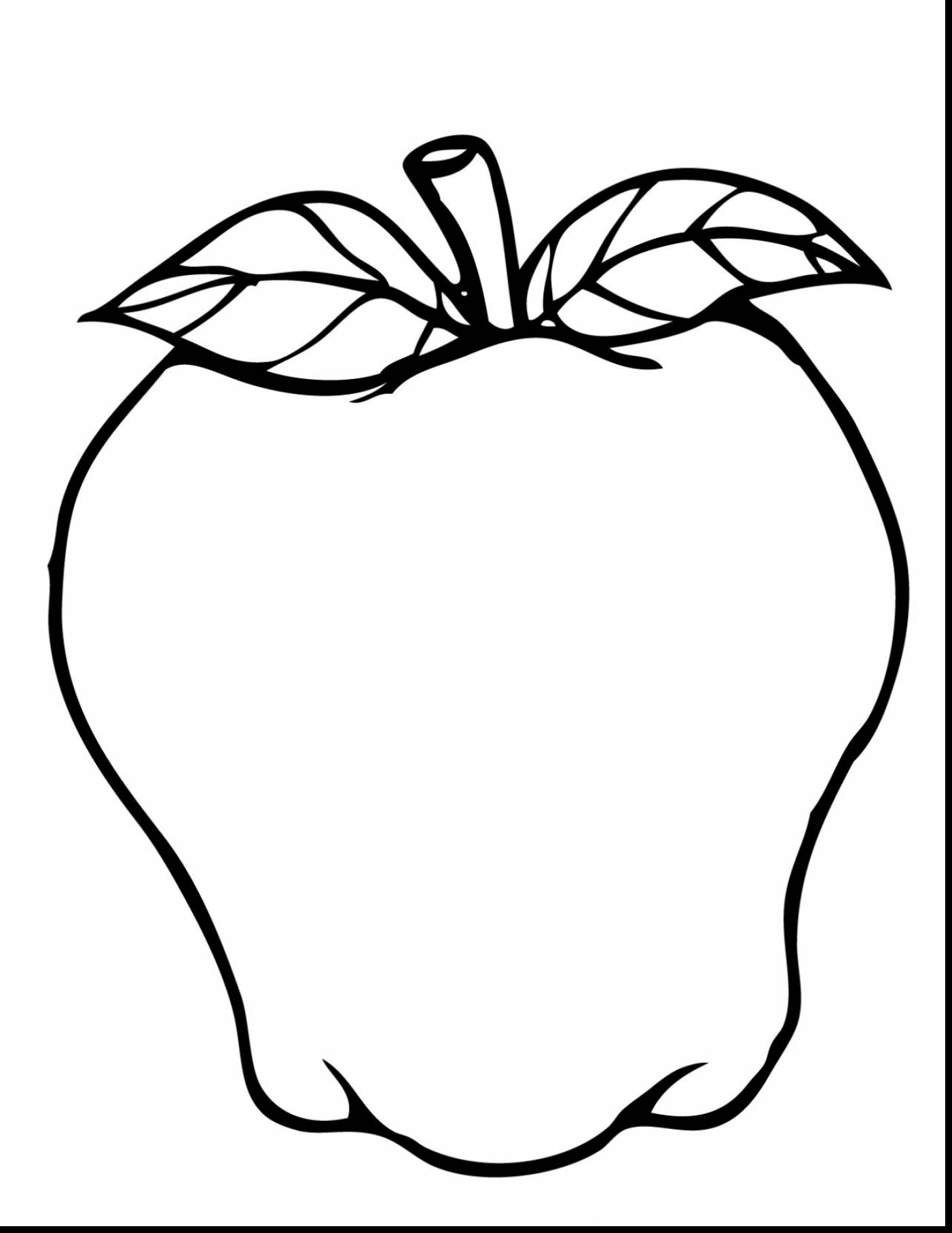 Astonishing Apple Tree Coloring Pages With Apple Tree