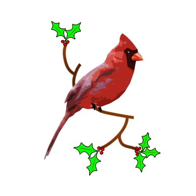 Red Cardinal Outline ClipArt Best