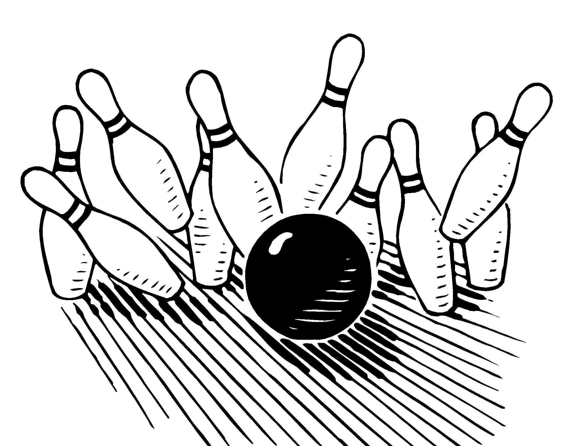Printable Image Of A Bowling Bowl And Bowling Pin