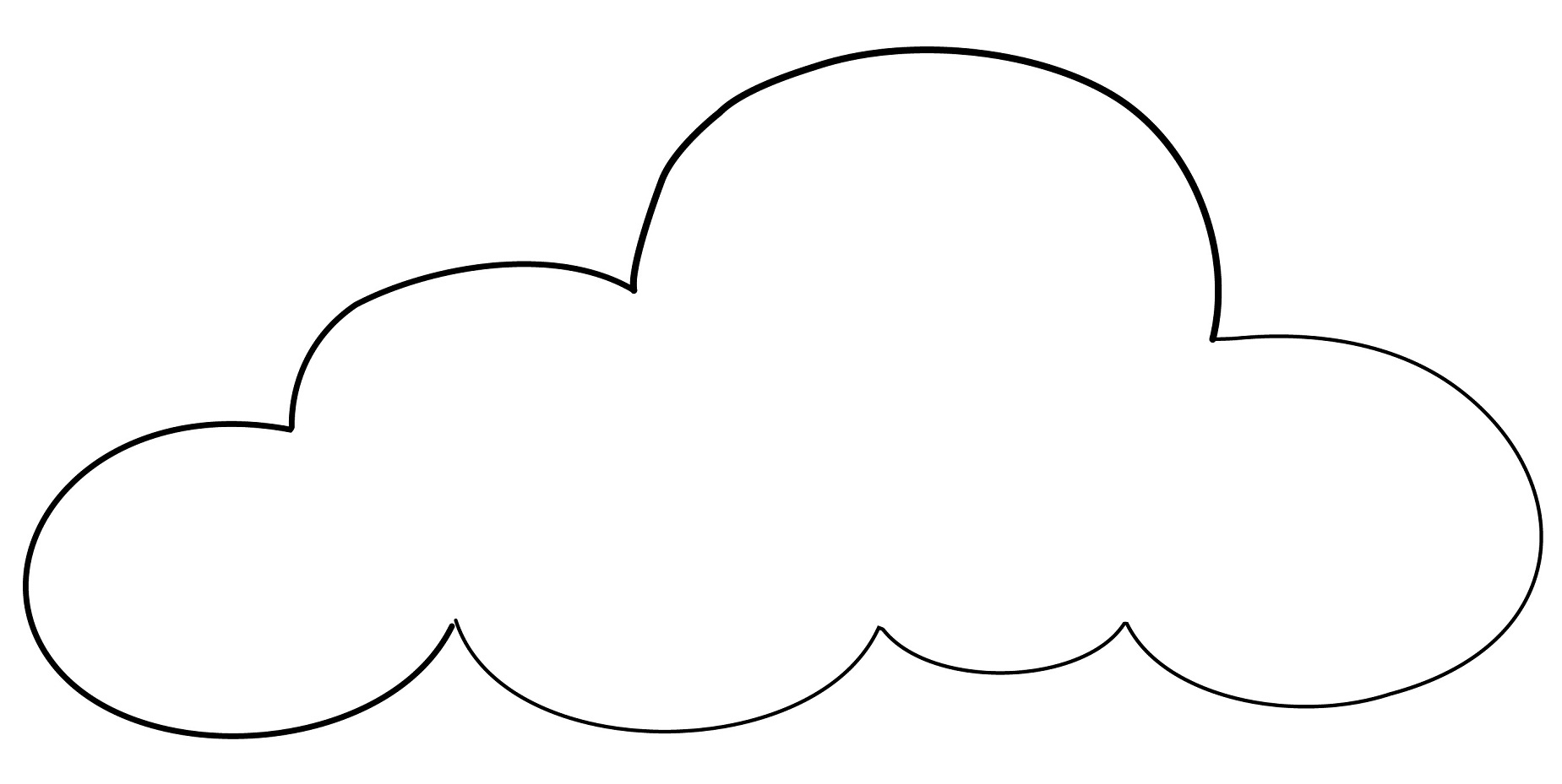 Cloud Coloring Printables
