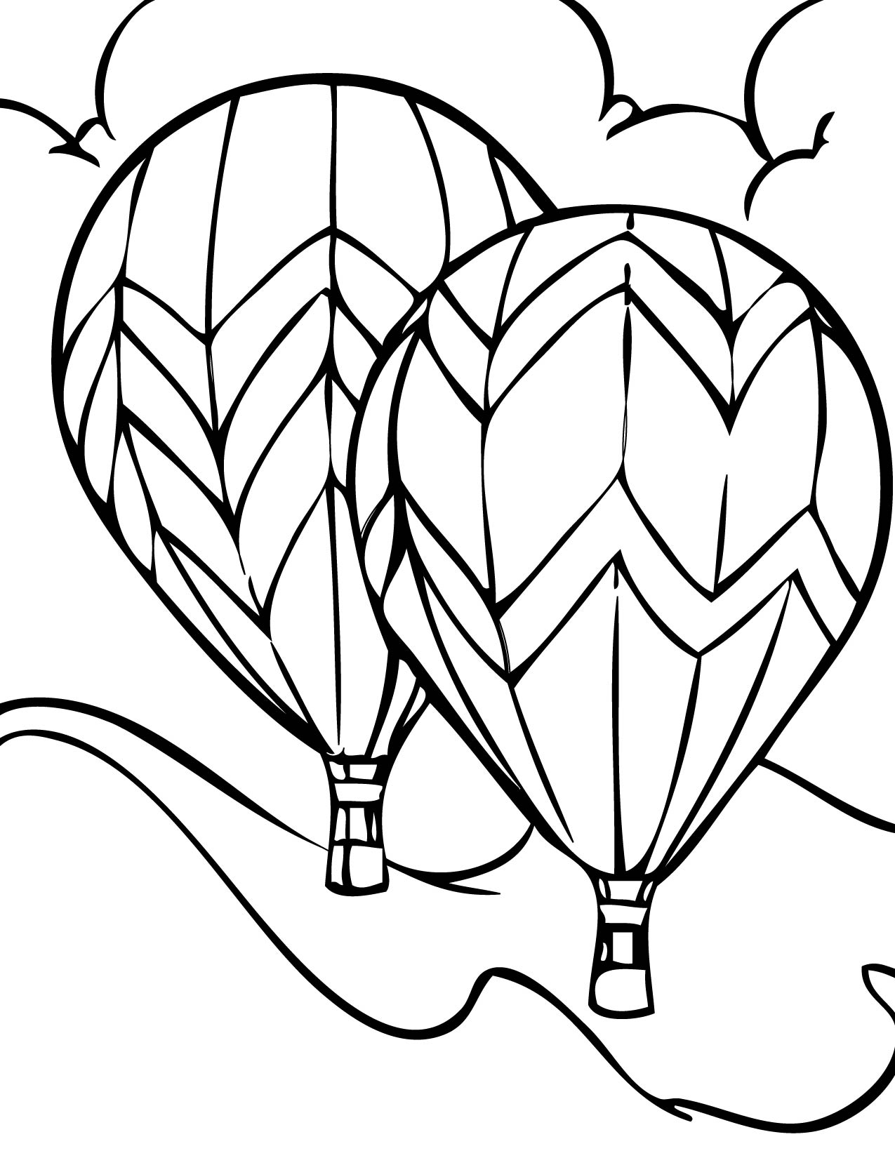hot air balloons pages free download