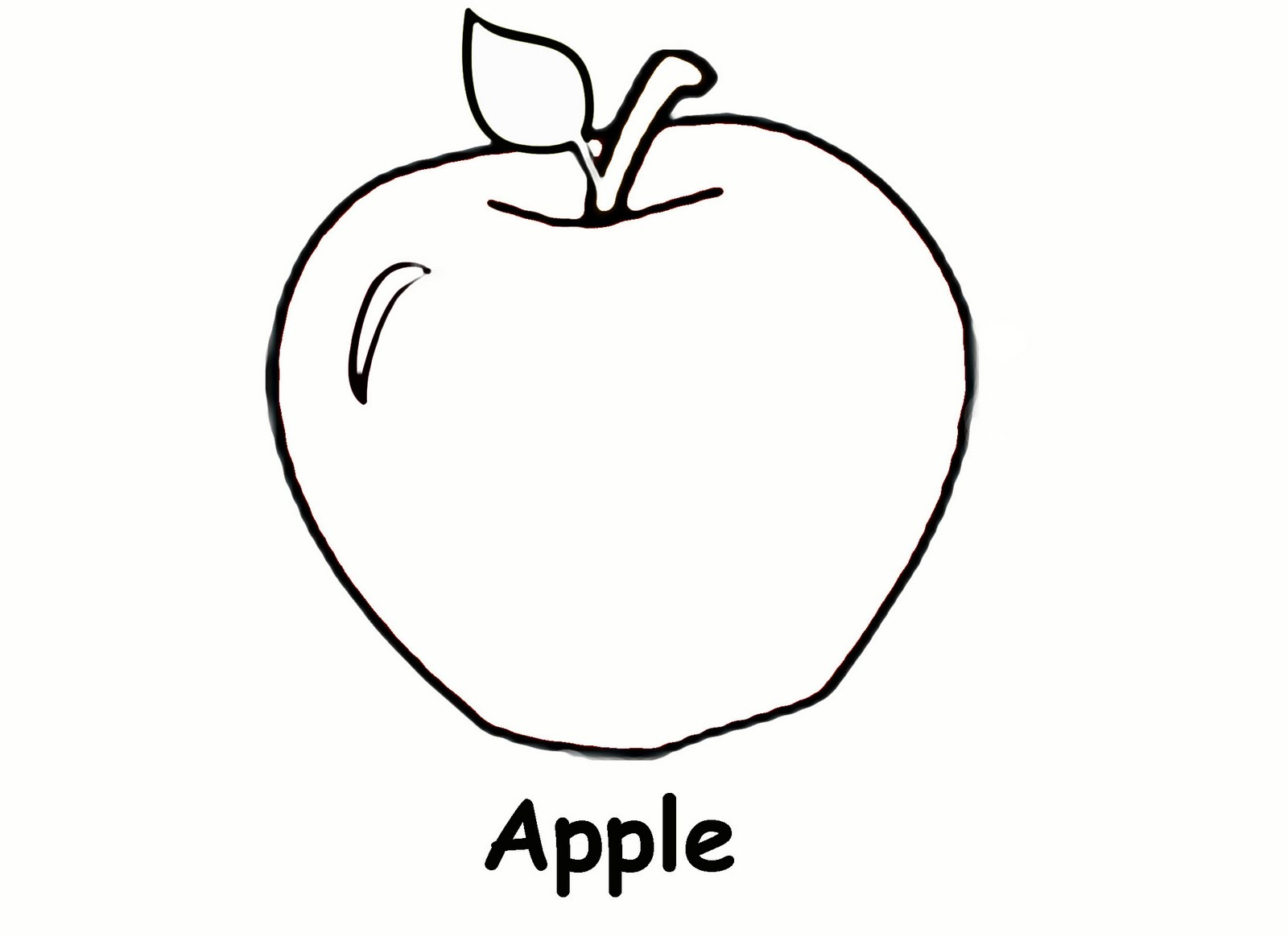 Coloring Cartoon Pictures Of Green Red Apples In A Basket