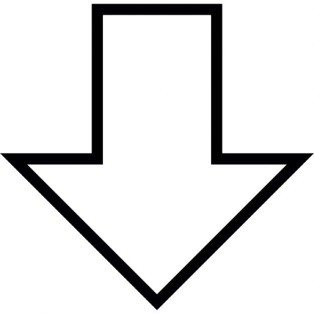 Black Arrow Pointing Down - ClipArt Best (626 x 626 Pixel)