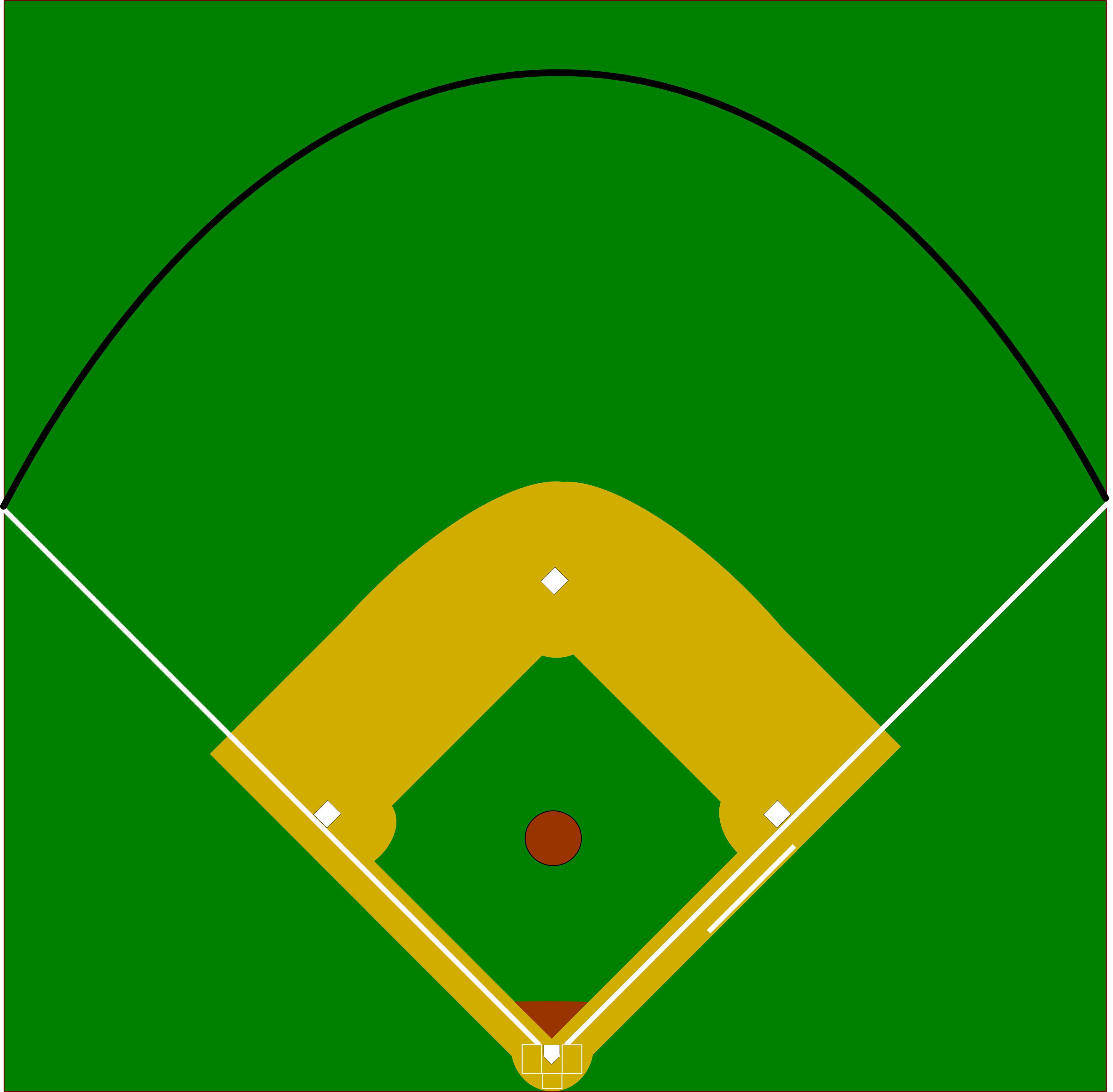 Baseball Field Sketch - ClipArt Best (3526 x 3459 Pixel)