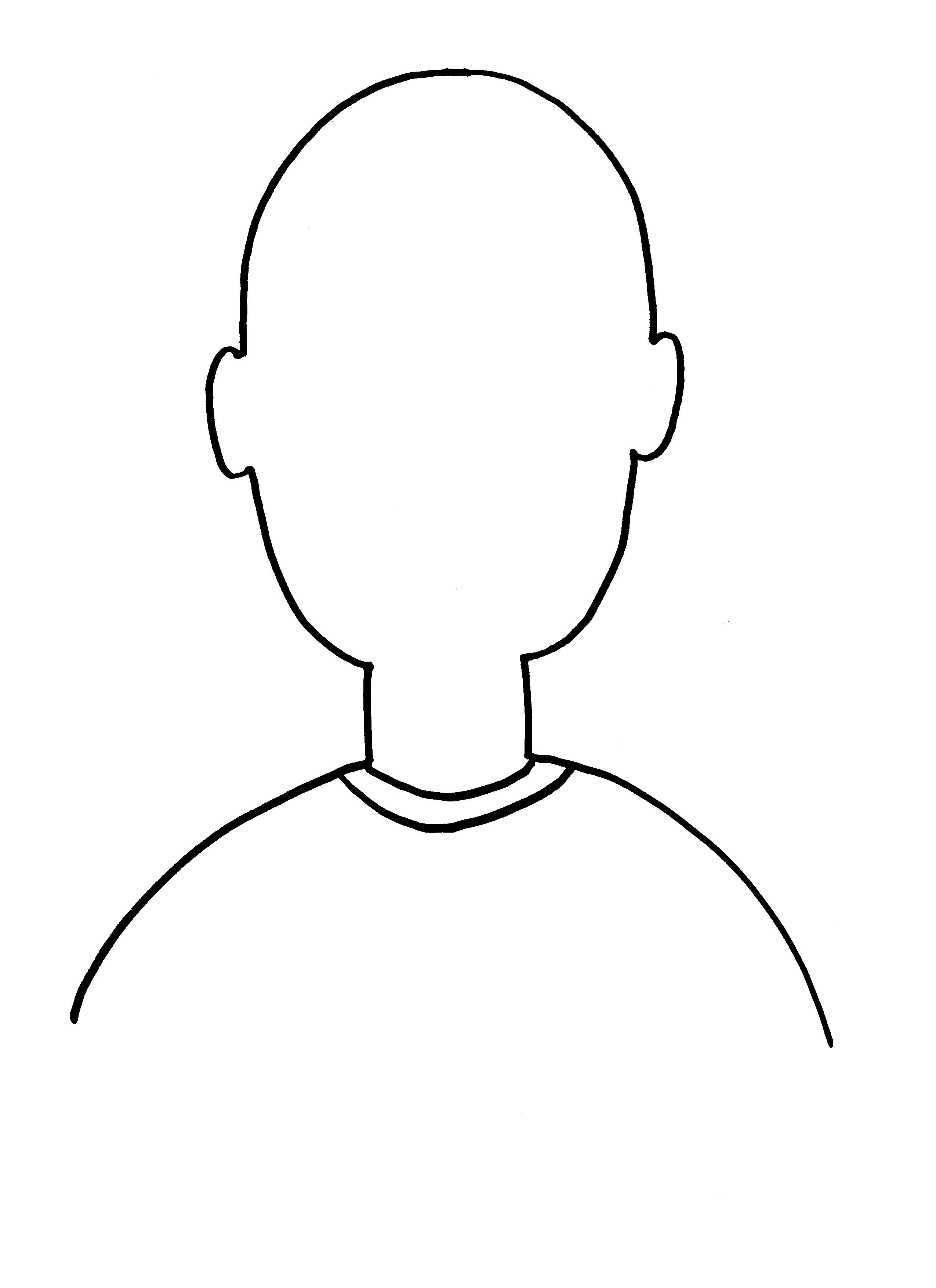 Head Outline Template
