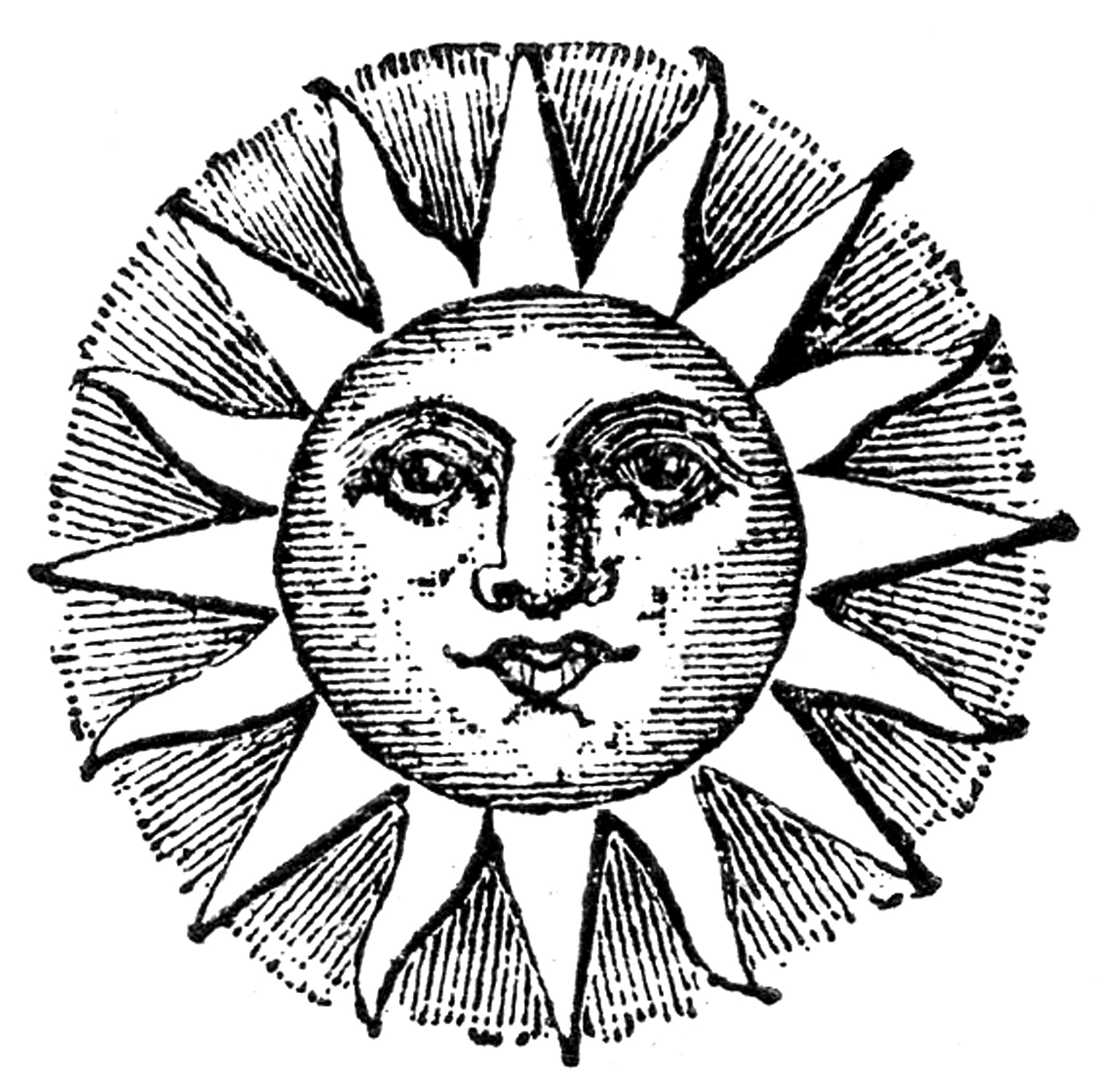 Black And White Sun Of May