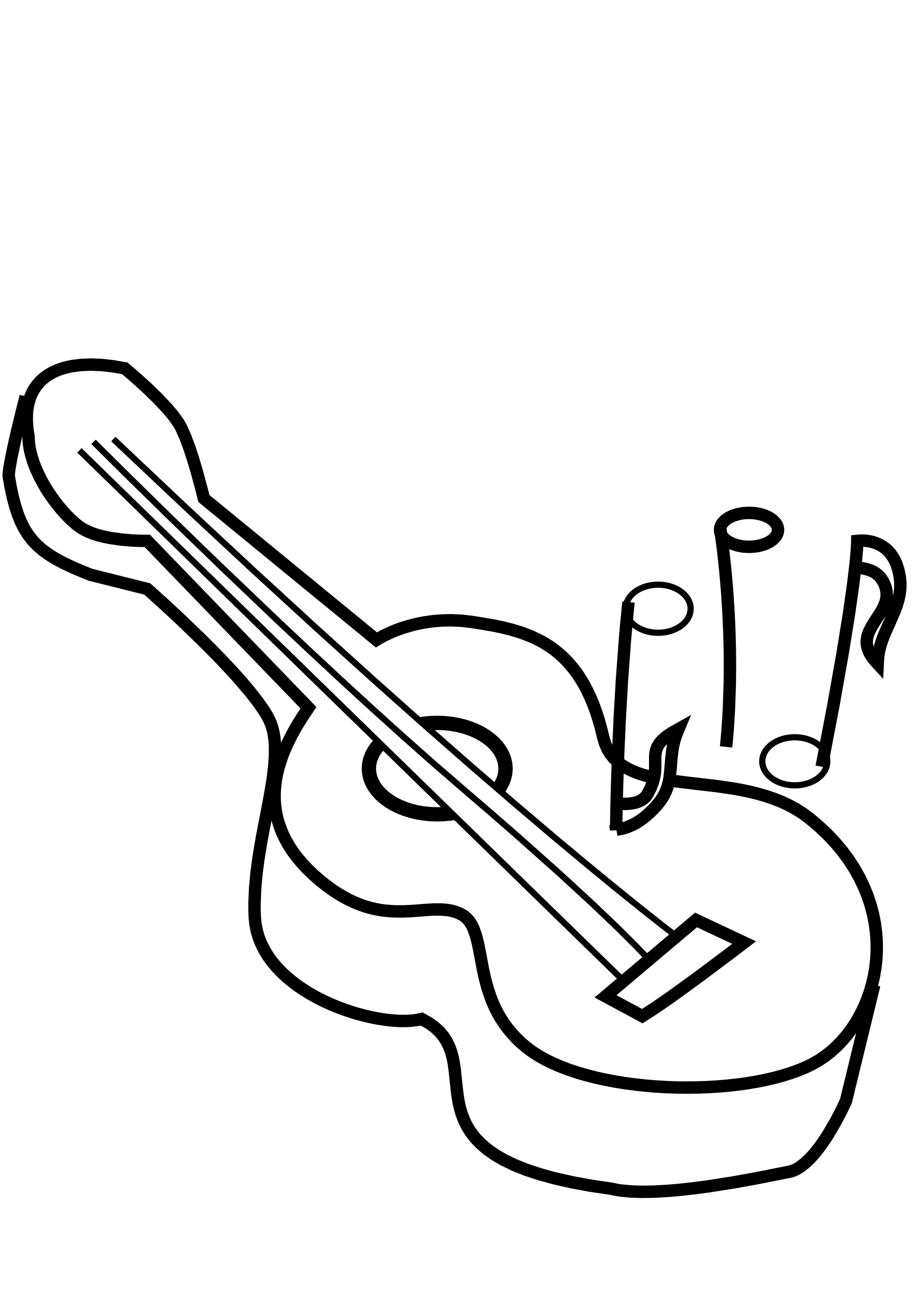 Guitar Clip Art Black And White