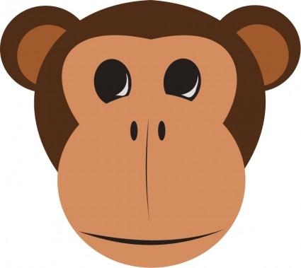 Happy Monkey Face - ClipArt Best (425 x 379 Pixel)