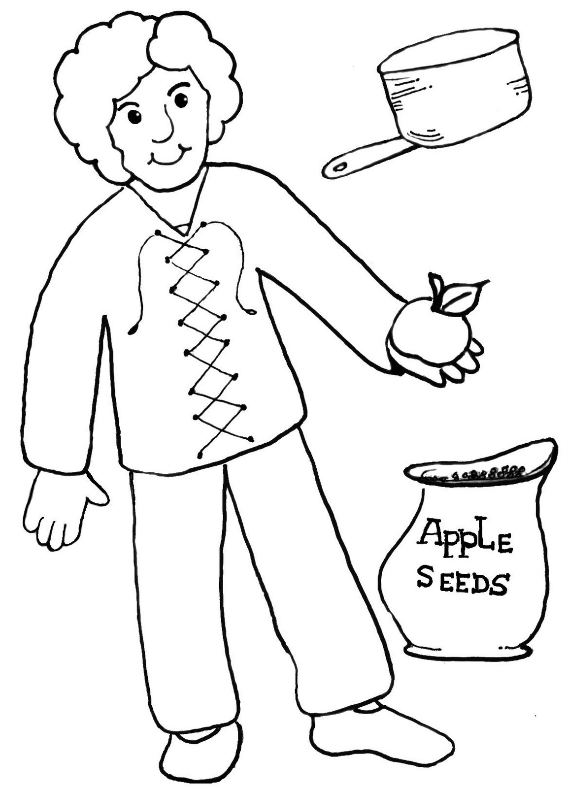 Clip Art Of Johnny Appleseed