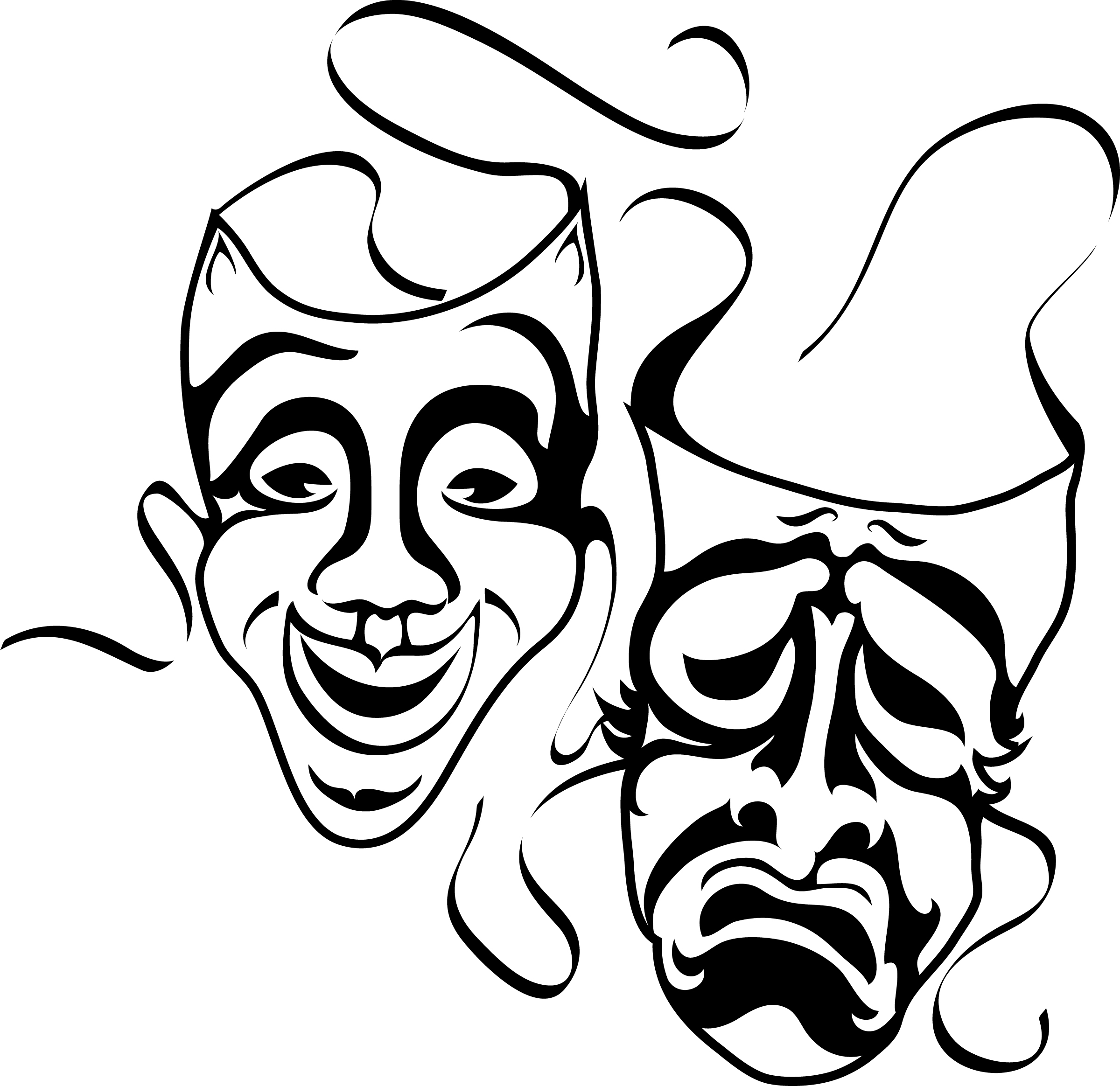 Theater Mask Vector Free
