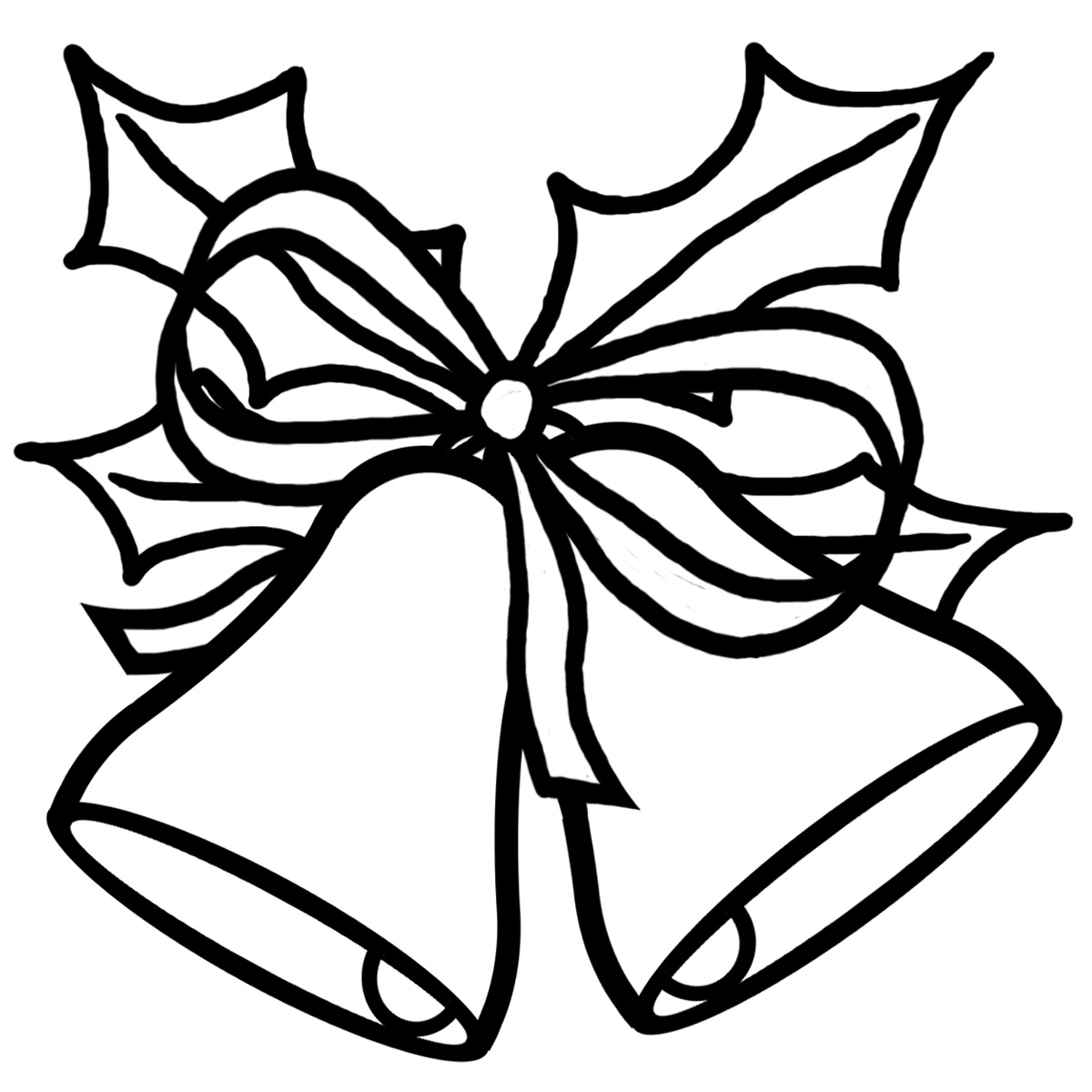 Bell Black And White Clipart