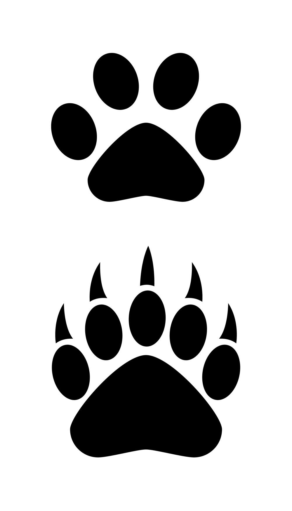 Polar Bear Paw Print Clip Art - ClipArt Best (1000 x 1750 Pixel)